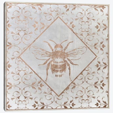 Bee Distressed II Canvas Print #DSG40} by Daniela Santiago Art Print