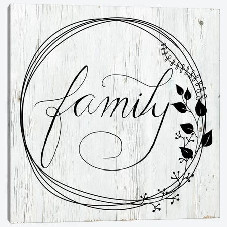 Family Canvas Print #DSG47} by Daniela Santiago Canvas Artwork