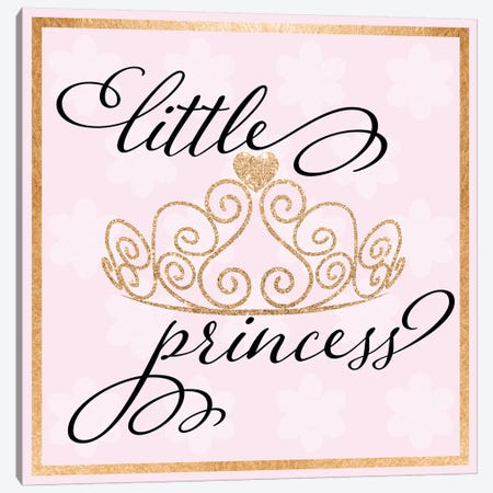 Little Princess Canvas Print #DSG53} by Daniela Santiago Canvas Wall Art