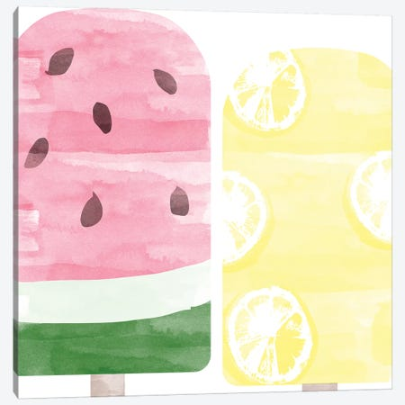 Popsicles I Canvas Print #DSG56} by Daniela Santiago Canvas Art Print