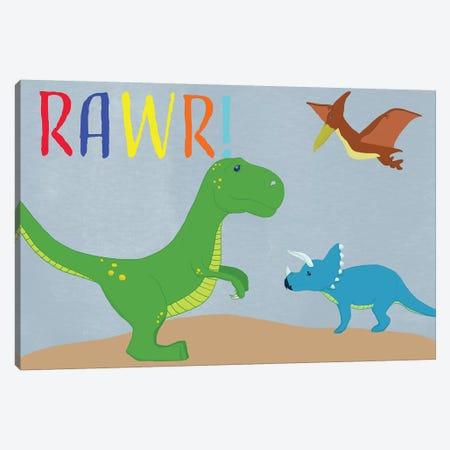 Rawr! Canvas Print #DSG62} by Daniela Santiago Art Print