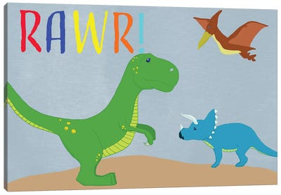 Rawr! Canvas Art Print