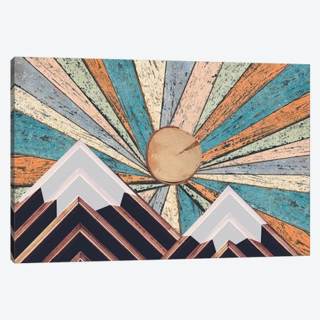 Wooden Landscape Canvas Print #DSG71} by Daniela Santiago Canvas Wall Art