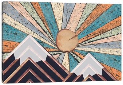 Wooden Landscape Canvas Art Print