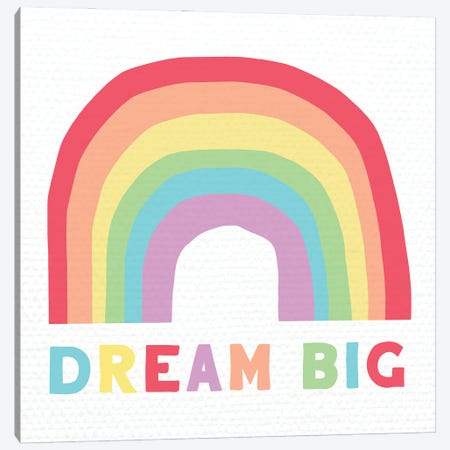 Dream Big Canvas Print #DSG73} by Daniela Santiago Canvas Artwork