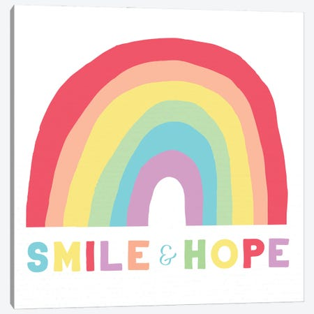Smile and Hope Canvas Print #DSG74} by Daniela Santiago Art Print