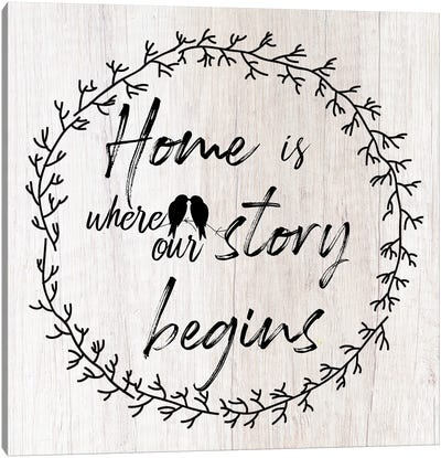 Where Our Story Begins Canvas Art Print