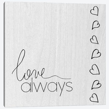 Love Always Canvas Print #DSG83} by Daniela Santiago Art Print