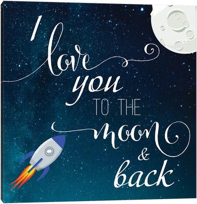 Love You to the Moon Canvas Art Print