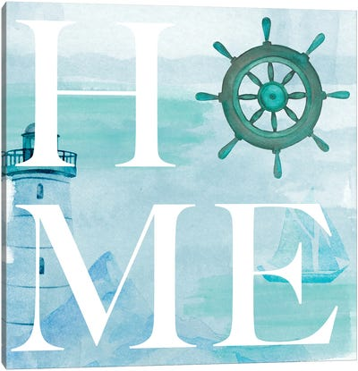 Nautical Home Canvas Art Print