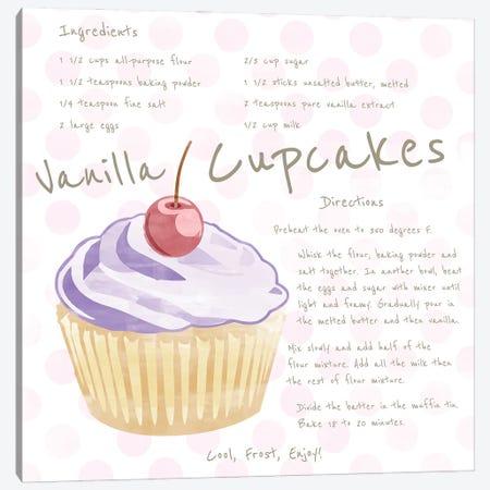 Vanilla Cupcake Canvas Print #DSG97} by Daniela Santiago Art Print