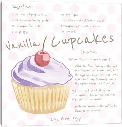 Vanilla Cupcake Canvas Art Print