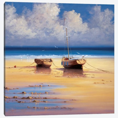 Restful Moorings Canvas Print #DSH10} by David Short Canvas Print