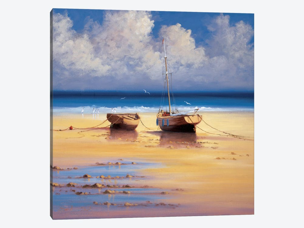 Restful Moorings by David Short 1-piece Canvas Art Print
