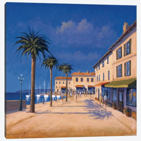 Seaside Promenade II Canvas Print #DSH11} by David Short Art Print