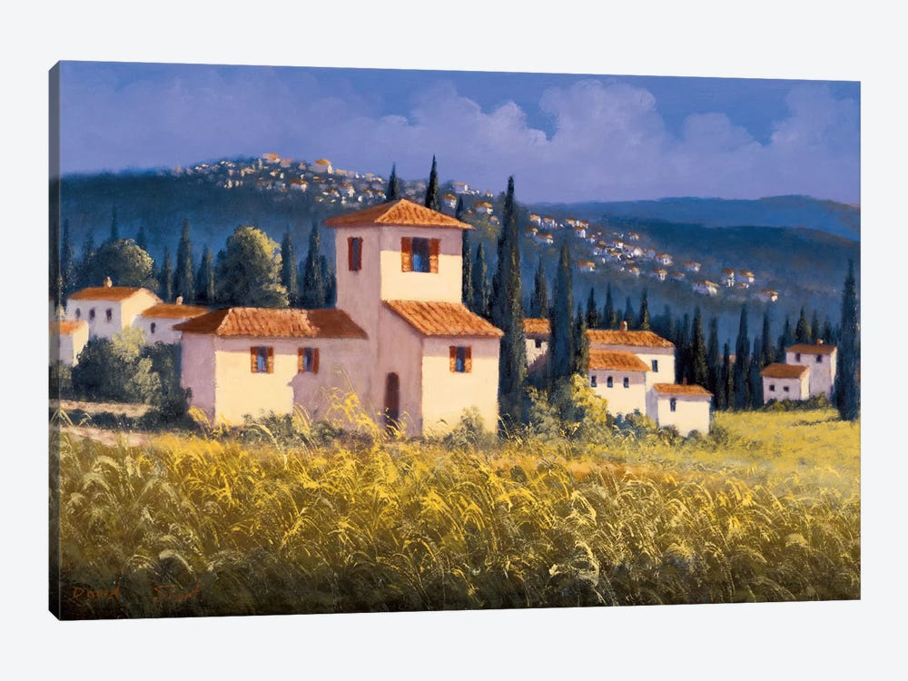 Hillside Village by David Short 1-piece Canvas Wall Art