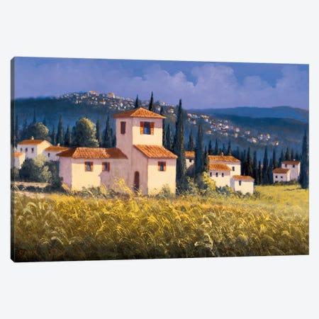 Hillside Village Canvas Print #DSH4} by David Short Canvas Artwork