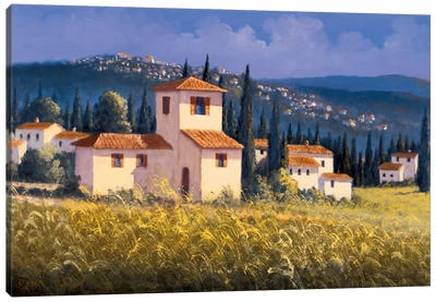 Hillside Village Canvas Art Print