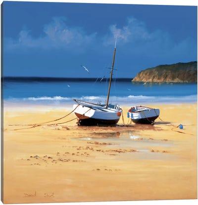 Moorings Low Tide Canvas Art Print