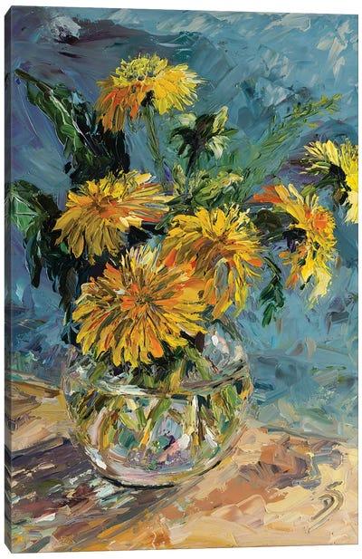 Dance With Me Yellow Swirl Canvas Art Print