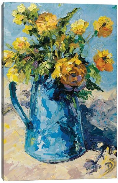Blue Waltz Canvas Art Print