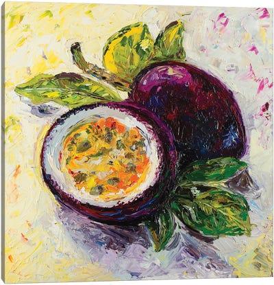 Passion Fruit Flavor Canvas Art Print