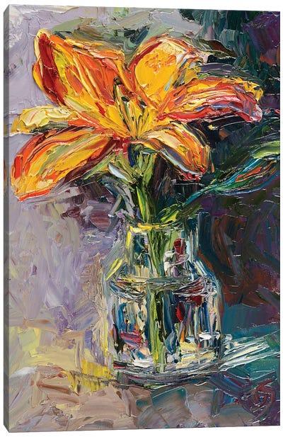 Lilac Bloom Canvas Art Print