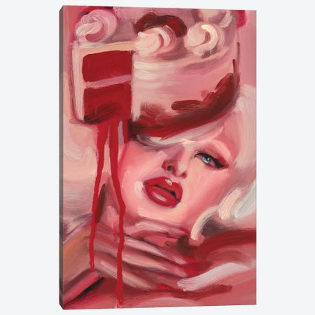 Red Velvet Canvas Print #DSM26} by Dawn Smith Canvas Artwork