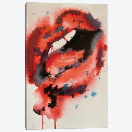 Untitled Lips Canvas Print #DSM31} by Dawn Smith Canvas Art