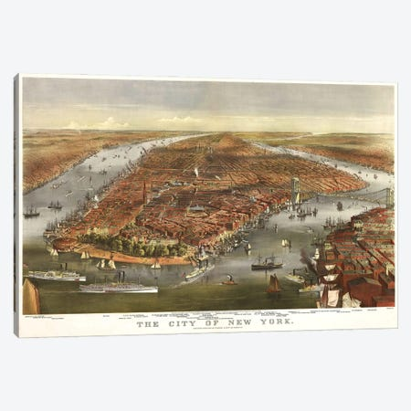 The City Of New York Canvas Print #DSP100} by Dan Sproul Canvas Art Print