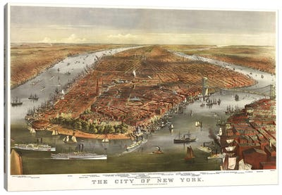 The City Of New York Canvas Art Print