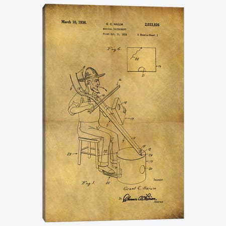 Musical Instrument 1936 Canvas Print #DSP105} by Dan Sproul Canvas Wall Art