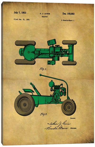 Tractor 1953 - II Canvas Art Print
