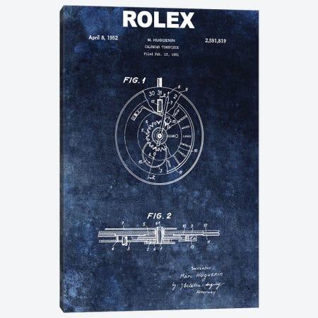 Rolex Calendar Time Piece, 1951- Blue Canvas Print #DSP110} by Dan Sproul Canvas Artwork