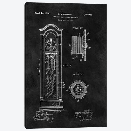 Automatic Clock Winding Mechanism, 1931-Black Canvas Print #DSP112} by Dan Sproul Canvas Art