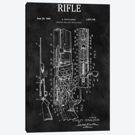 Straight Full Bolt Action Rifle, 1966-Chalkboard Canvas Print #DSP115} by Dan Sproul Canvas Art Print