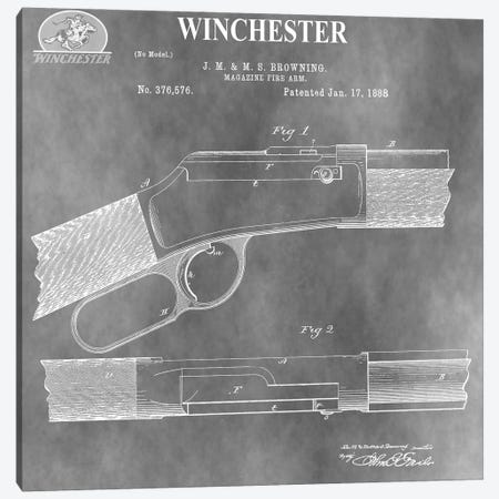 Winchester Magazine Fire Arm, 1888-Light Gray 3-Piece Canvas #DSP116} by Dan Sproul Art Print