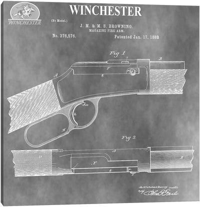 Winchester Magazine Fire Arm, 1888-Light Gray Canvas Art Print