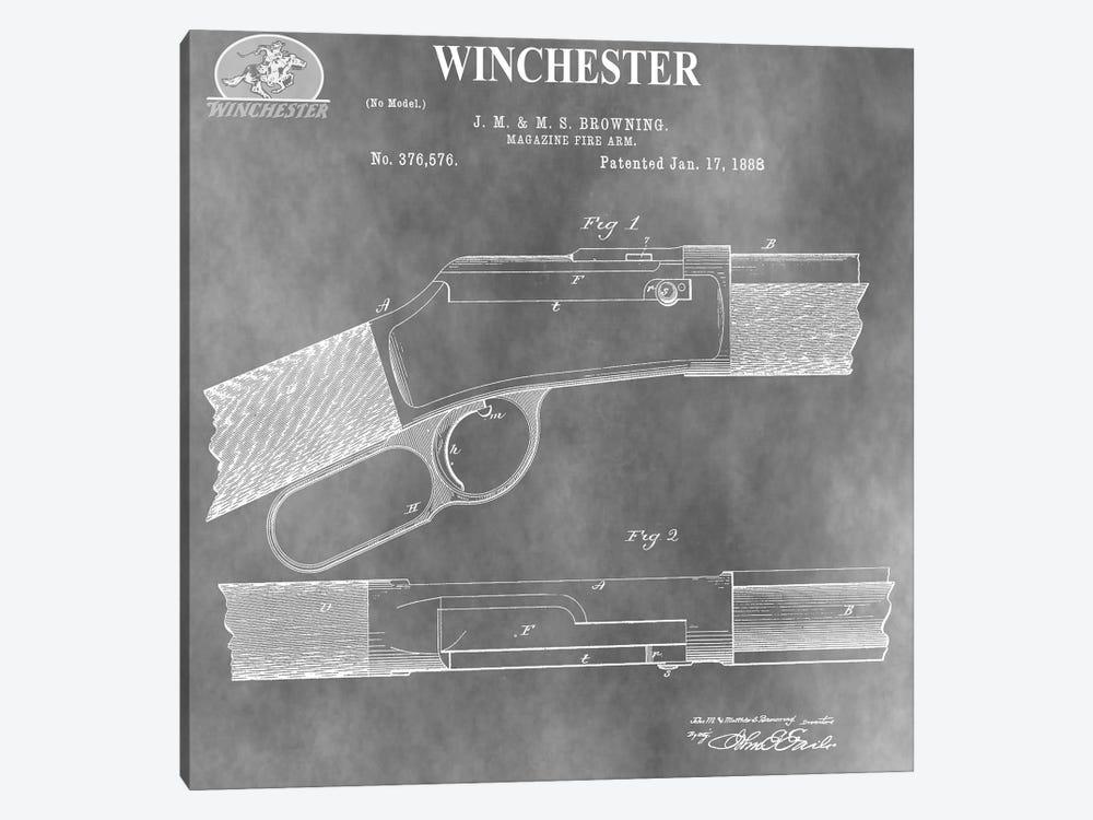 Winchester Magazine Fire Arm, 1888-Light Gray by Dan Sproul 1-piece Art Print