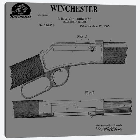 Winchester Magazine Fire Arm, 1888-Gray Canvas Print #DSP117} by Dan Sproul Canvas Print