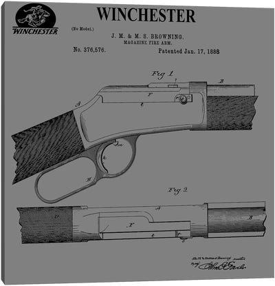 Winchester Magazine Fire Arm, 1888-Gray Canvas Art Print