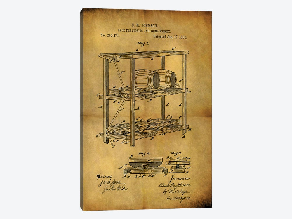 Aging Whiskey 1882 by Dan Sproul 1-piece Canvas Artwork