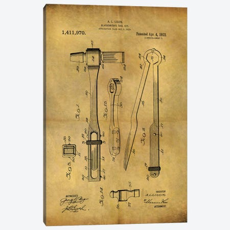 Blacksmith's Tool 1922 Canvas Print #DSP123} by Dan Sproul Art Print