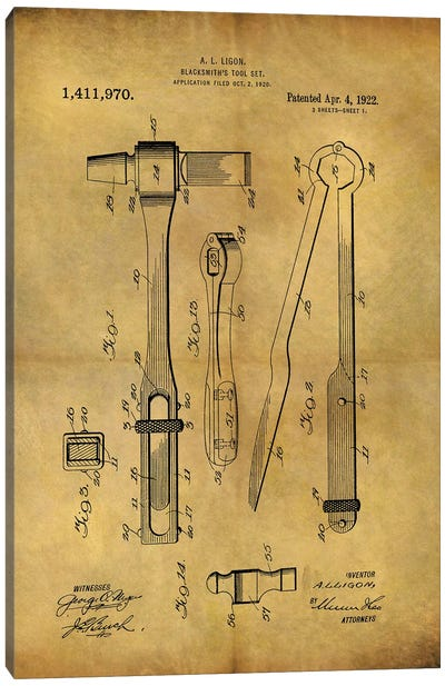 Blacksmith's Tool 1922 Canvas Art Print