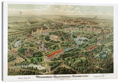Tennessee Centennial Exposition, Nashville, Tennessee, 1897 Canvas Art Print