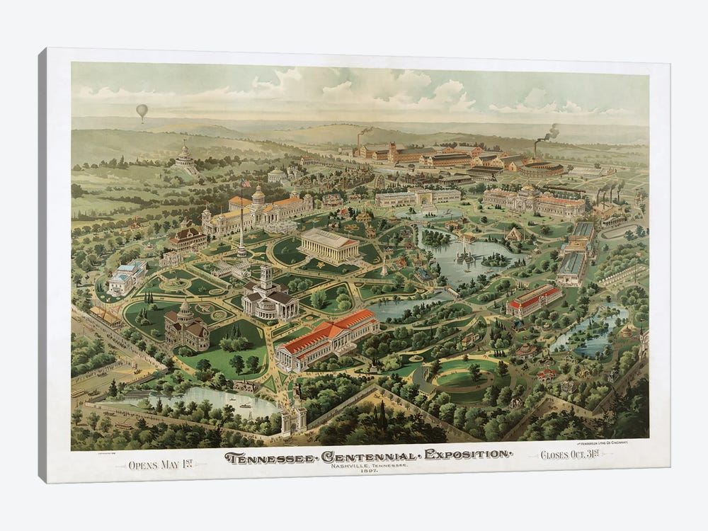 Tennessee Centennial Exposition, Nashville, Tennessee, 1897 by Dan Sproul 1-piece Canvas Art Print