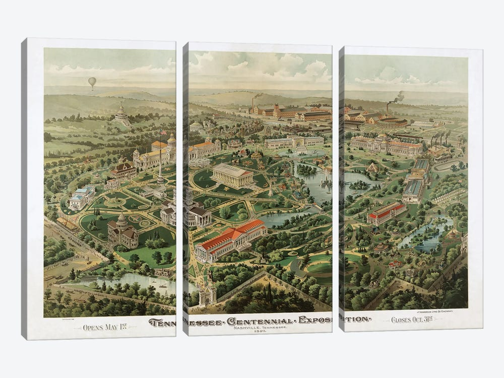 Tennessee Centennial Exposition, Nashville, Tennessee, 1897 by Dan Sproul 3-piece Canvas Print