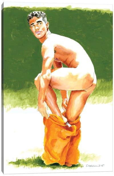 Orange Shorts Canvas Art Print