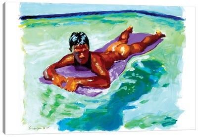 Purple Float Canvas Art Print