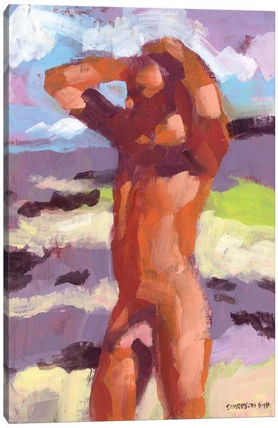 Brian At The Beach II Canvas Art Print